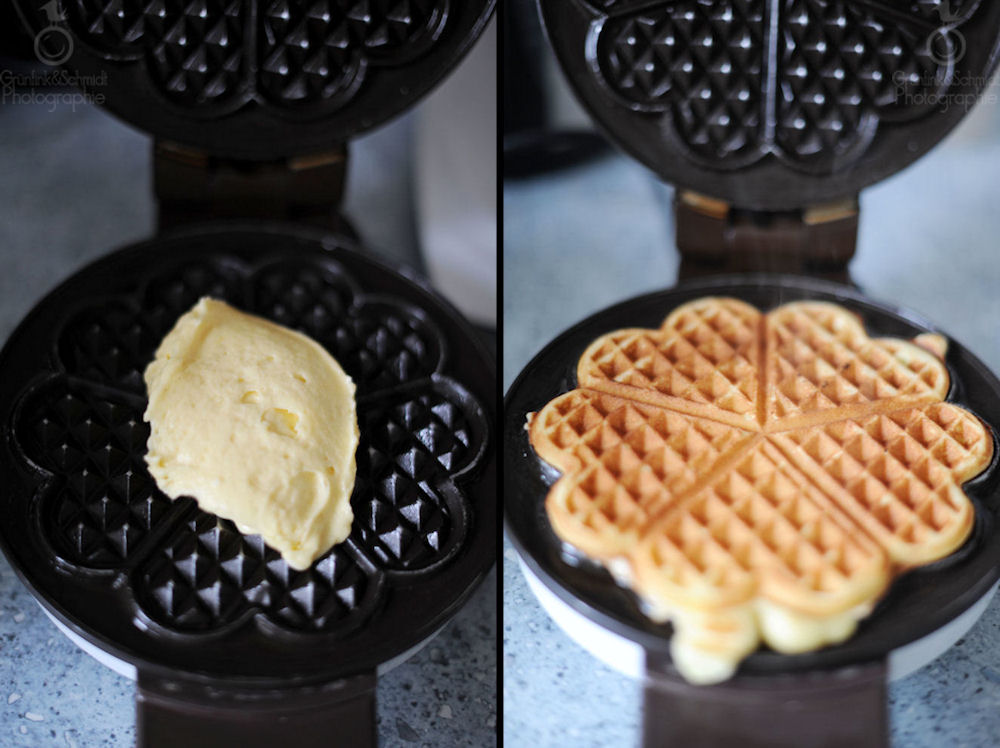Crispy and Buttery Heart-Shaped Gluten-free Waffles