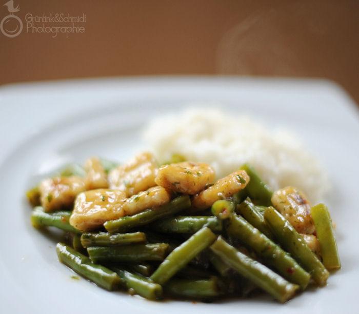 Braised Tofu and Green Beans in Mushroom Sauce