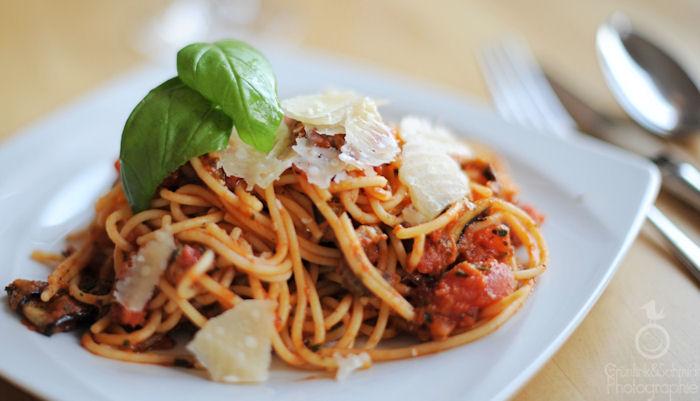 Gluten-free Spaghetti a la Norma